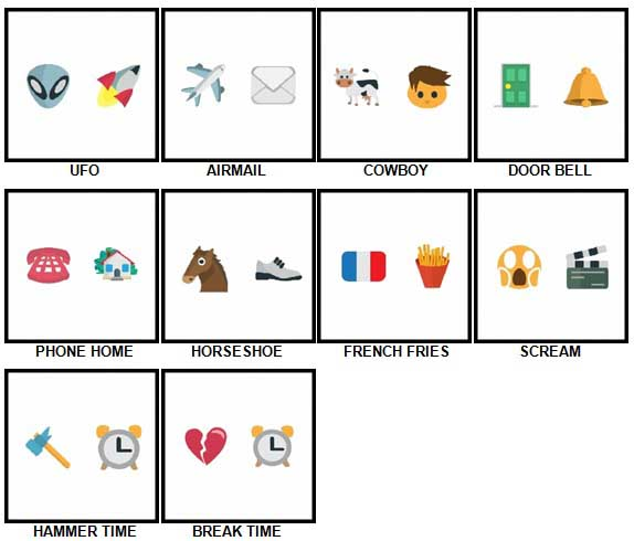 100 Pics Emoji Quiz 2 Answers 1-10