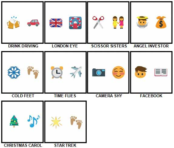 100 Pics Emoji Quiz 2 Level 31-40 Answers
