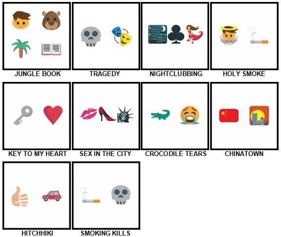 100 Pics Emoji Quiz 2 Level 41-50 Answers