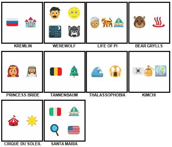 100 Pics Emoji Quiz 2 Level 91-100 Answers