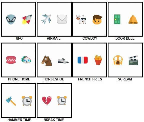100 Pics Emoji Quiz 2 Level 1- 10