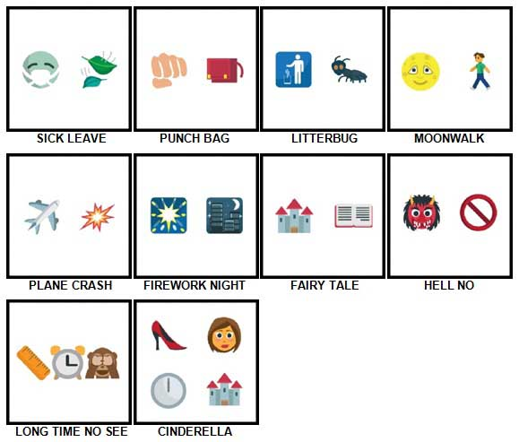 100 Pics Emoji Quiz 3 Level 41-50 Answers | 100 Pics Answers