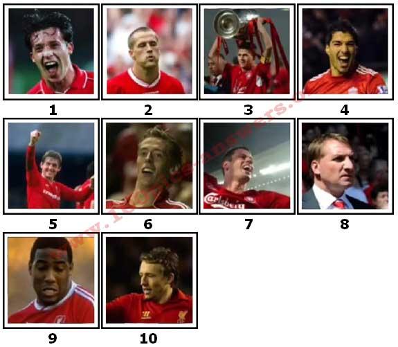 100 Pics Liverpool FC Icons Level 1 Answers