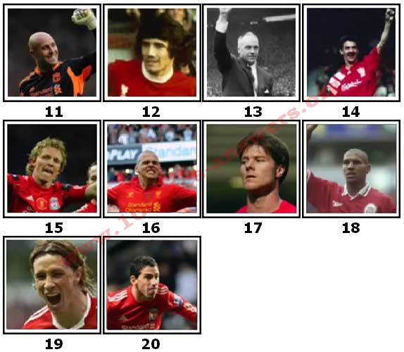 100 Pics Liverpool FC Icons Level 11 Answers