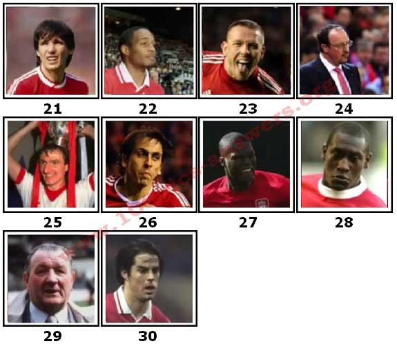 100 Pics Liverpool FC Icons Level 21 Answers