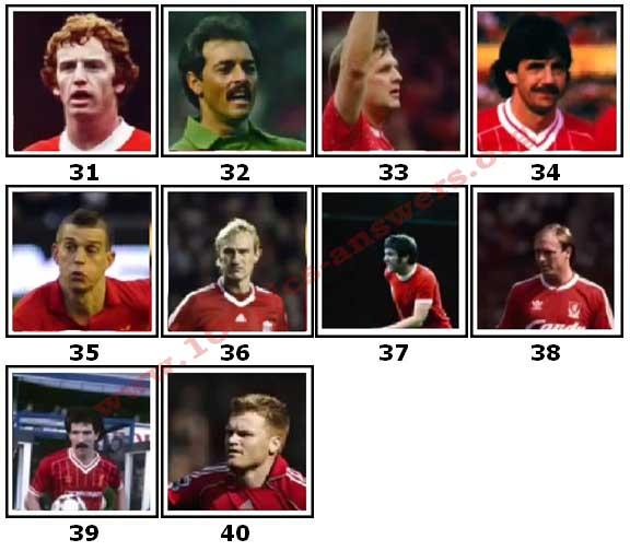 100 Pics Liverpool FC Icons Level 31 Answers