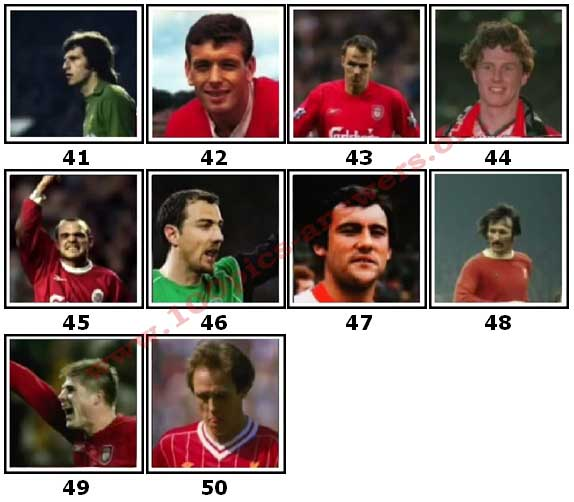 100 Pics Liverpool FC Icons Level 41 Answers