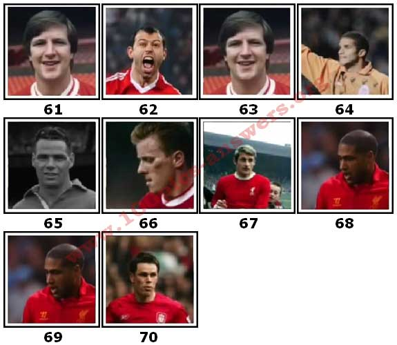 100 Pics Liverpool FC Icons Level 61 Answers