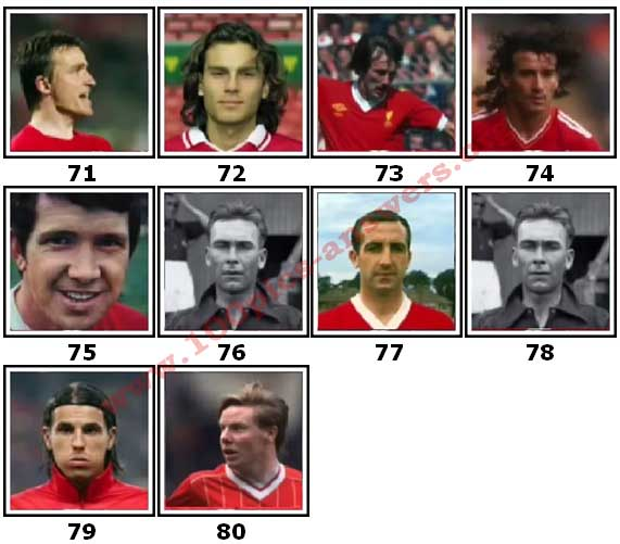 100 Pics Liverpool FC Icons Level 71 Answers