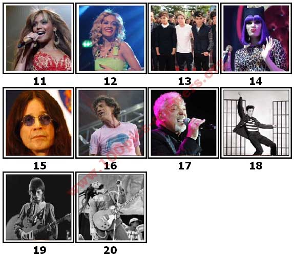 100 Pics Music Stars Level 11 Answers