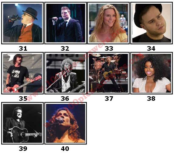 100 Pics Music Stars Level 31 Answers