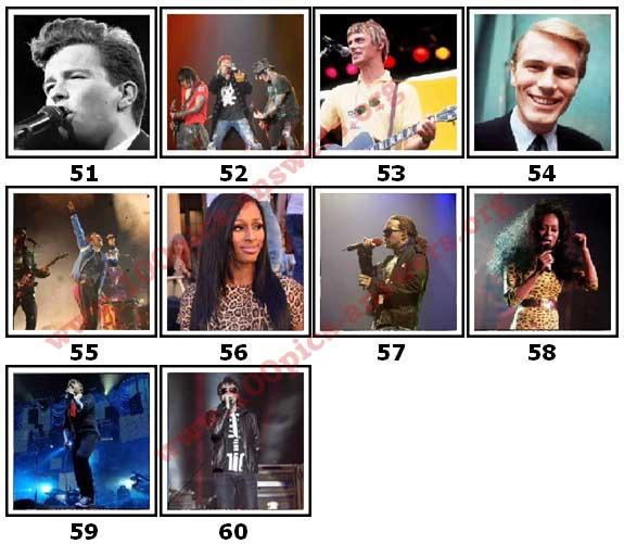 100 Pics Music Stars Level 51 Answers