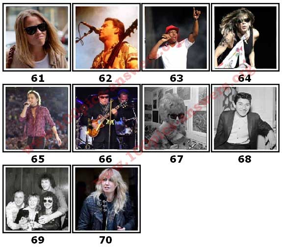 100 Pics Music Stars Level 61 Answers