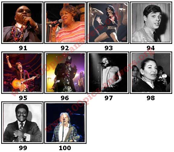 100 Pics Music Stars Level 91 Answers