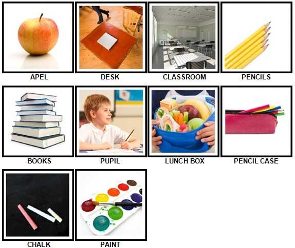 100 Pics School Answers 1-10