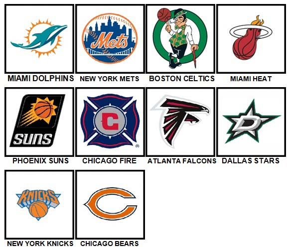 100 Pics Sports Logos Level 11-20 Answers