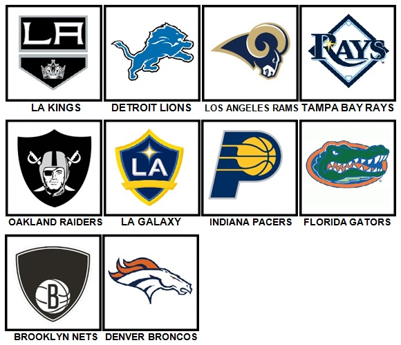 100 Pics Sports Logos Level 21-30 Answers