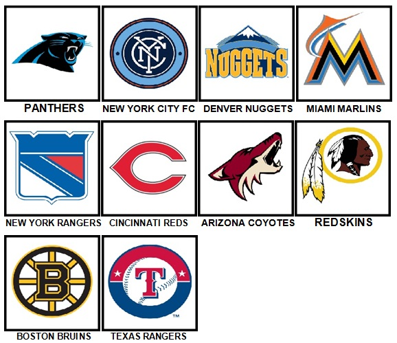 100 Pics Sports Logos Level 31-40 Answers