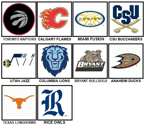 100 Pics Sports Logos Level 41-50 Answers