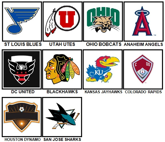 100 Pics Sports Logos Level 51-60 Answers
