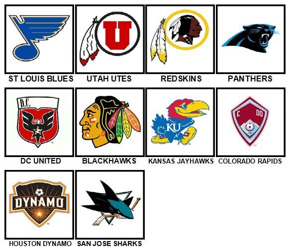 100 Pics Sports Logos Level 51-60 Answers