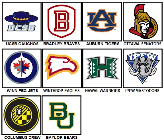 100 Pics Sports Logos Level 81-90 Answers