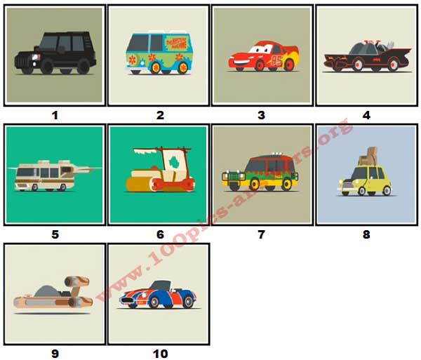 100 Pics Star Cars Level 1 Answers