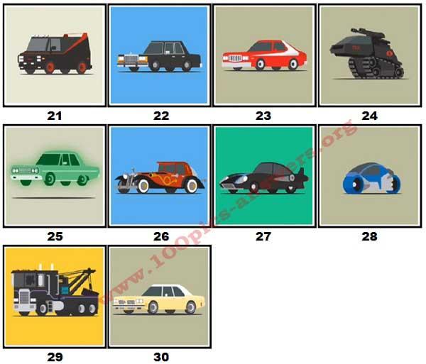 100 Pics Star Cars Level 21 30 Answers 100 Pics Answers