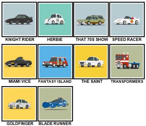 100 Pics Star Cars Level 31 40 Answers 100 Pics Answers