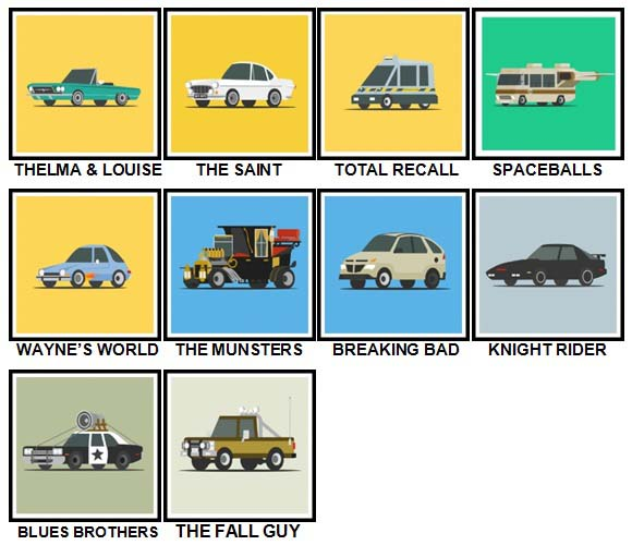 100 Pics Star Cars Level 41-50 Answers