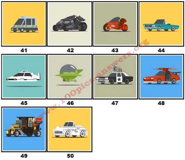 100 Pics Star Cars Level 41 50 Answers 100 Pics Answers