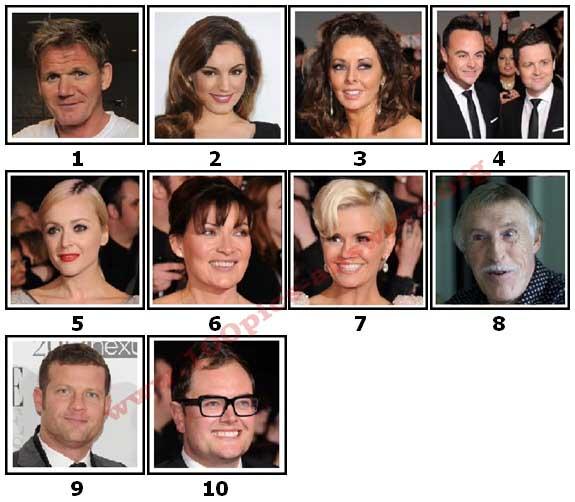 100 Pics TV Stars Level 1 Answers