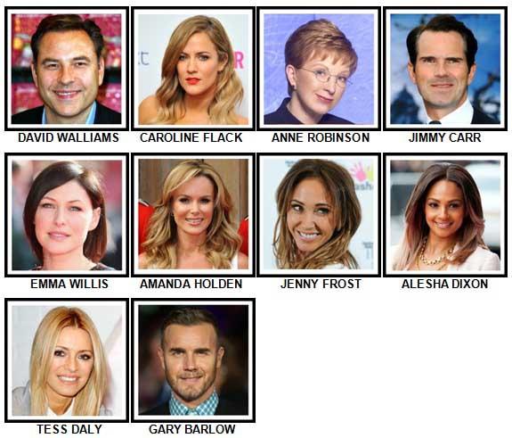 100 Pics TV Stars Level 21-30 Answers