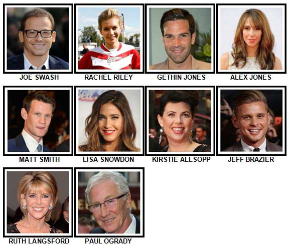 100 Pics TV Stars Level 61-70 Answers
