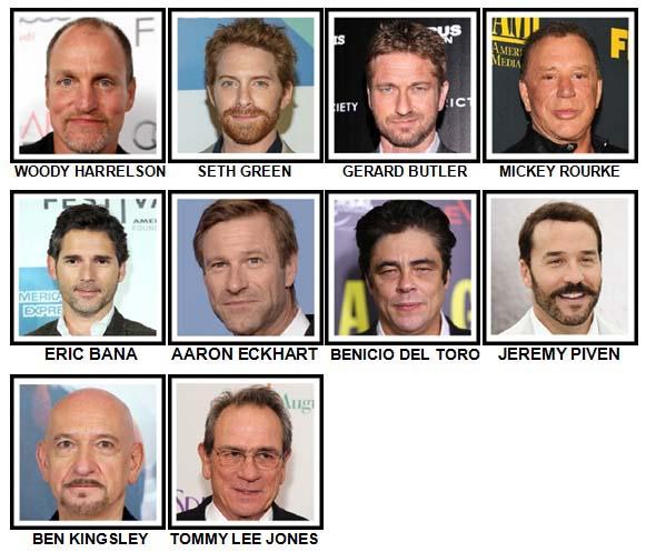 100 Pics Actors Level 61-70 Answers