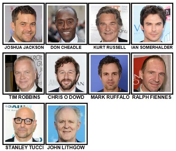 100 Pics Actors Level 71-80 Answers