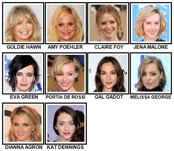 100 Pics Actresses Level 61-70 Answers