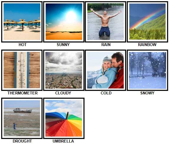 100 Pics Answers Answers 1-10