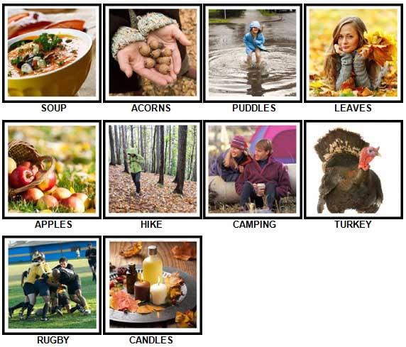 100 Pics Autumn Level 1-10 Answers