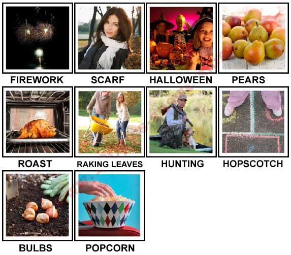 100 Pics Autumn Level 11-20 Answers