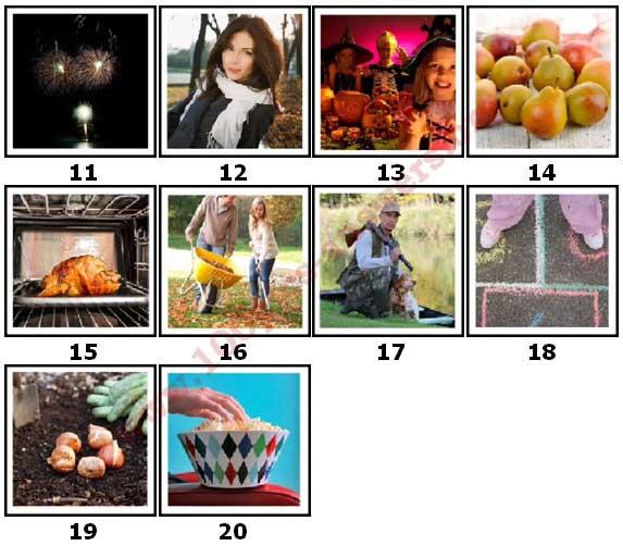 100 Pics Autumn Level 11 Answers