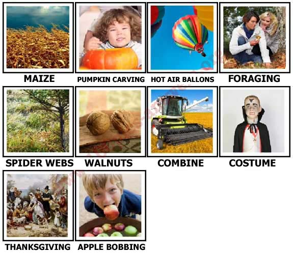 100 Pics Autumn Level 51-60 Answers