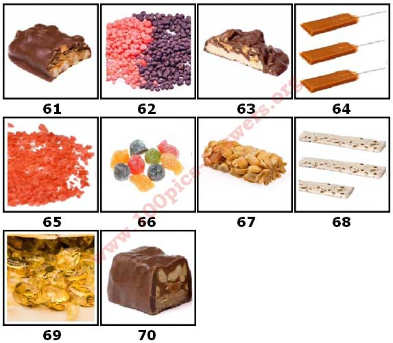 100 Pics Candy Store Level 61 Answers