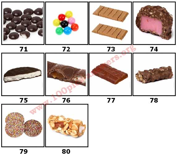 100 Pics Candy Store Level 71 Answers