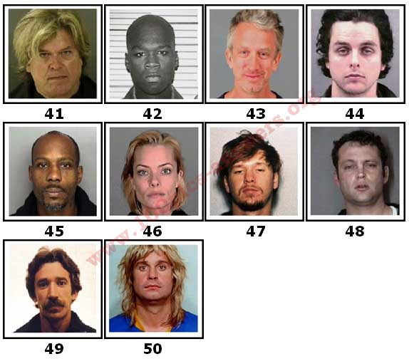 100 Pics Celeb Mugshots Level 41 Answers