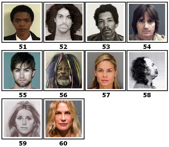 100 Pics Celeb Mugshots Level 51 Answers