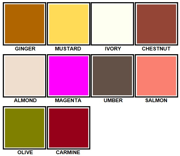 100 Pics Colours Level 51-60 Answers