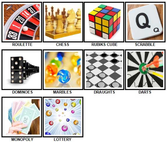 100 Pics Games Answers 1-10