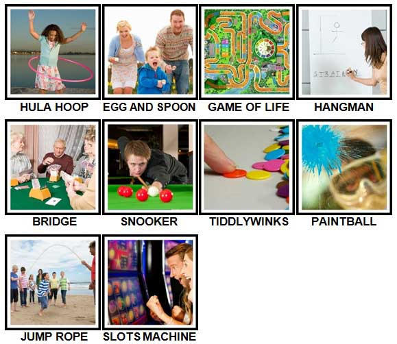 100 Pics Games Level 31-40 Answers