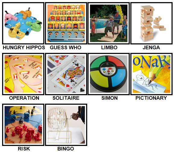 100 Pics Games Level 41-50 Answers